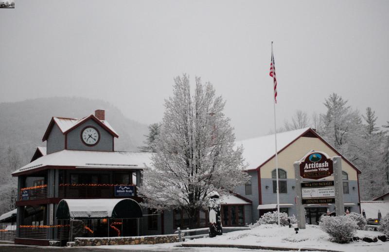 Exterior view of Attitash Mountain Village Resort.