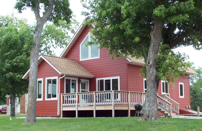 Cabin exterior at Otter Tail Beach Resort.