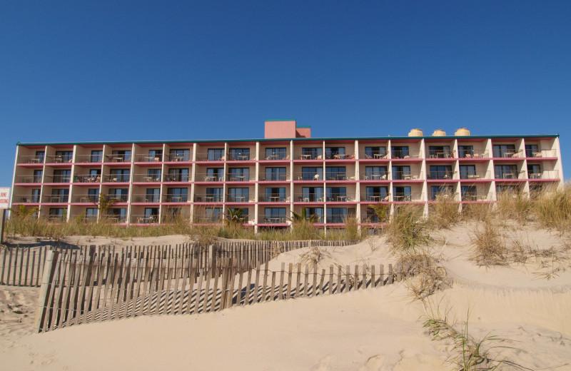 Exterior view of Quality Inn Oceanfront Ocean City.