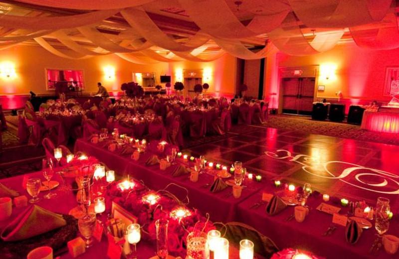 Wedding reception at Crowne Plaza Melbourne Oceanfront Resort.