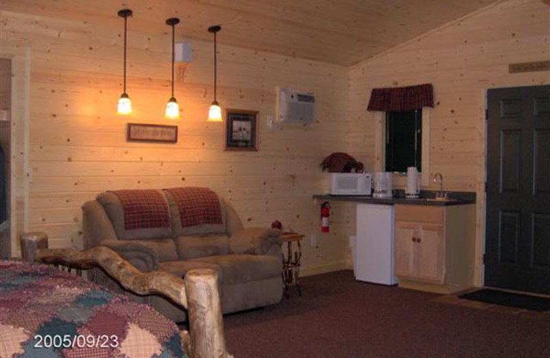 Cottage interior at Woodside Cottages of Bayfield.
