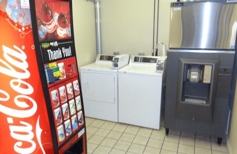 Laundry facilities at @ Michigan Inn and Lodge.