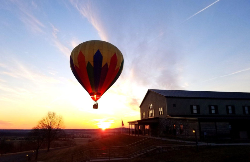 Balloon ride at The Lodges at Gettysburg.