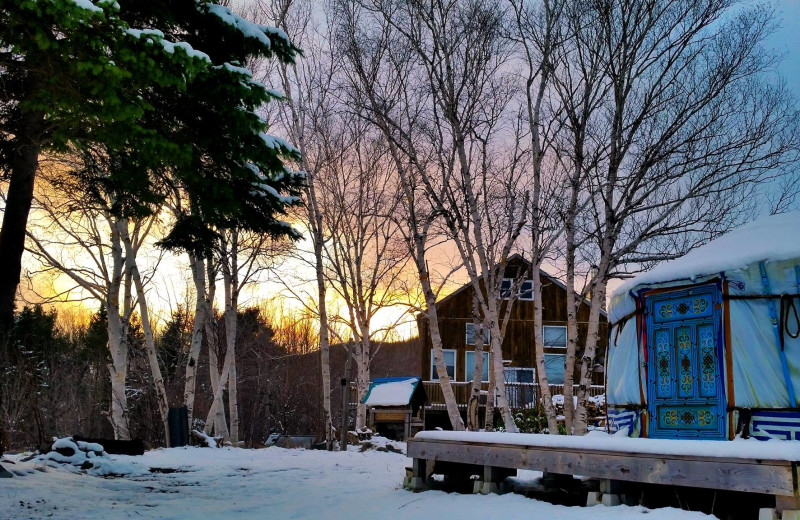 Winter at Cabot Shores Wilderness Resort.