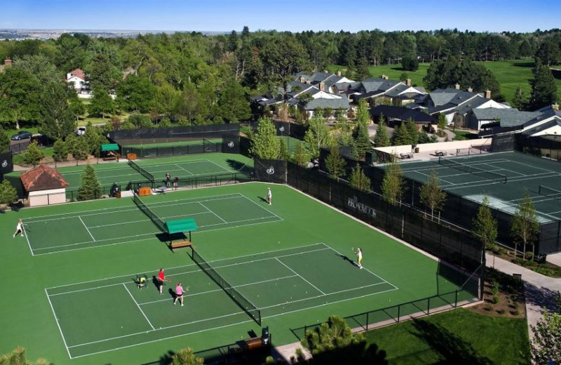 Tennis court at The Broadmoor.