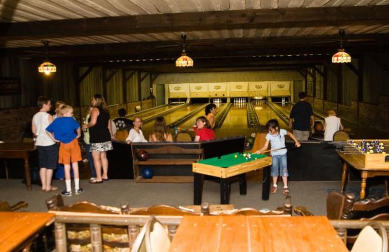 Antique bowling alley at Winter Clove Inn.