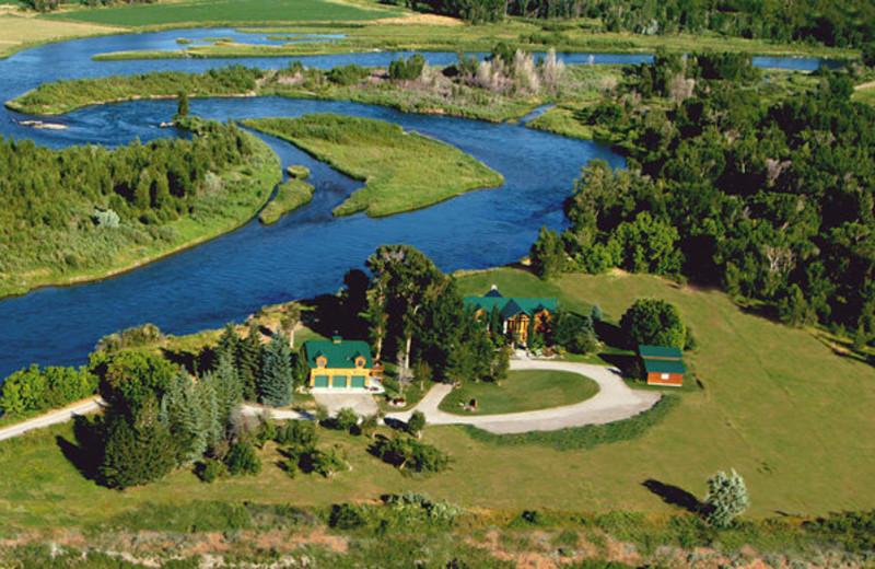 Aerial view of Blue Heron Inn.