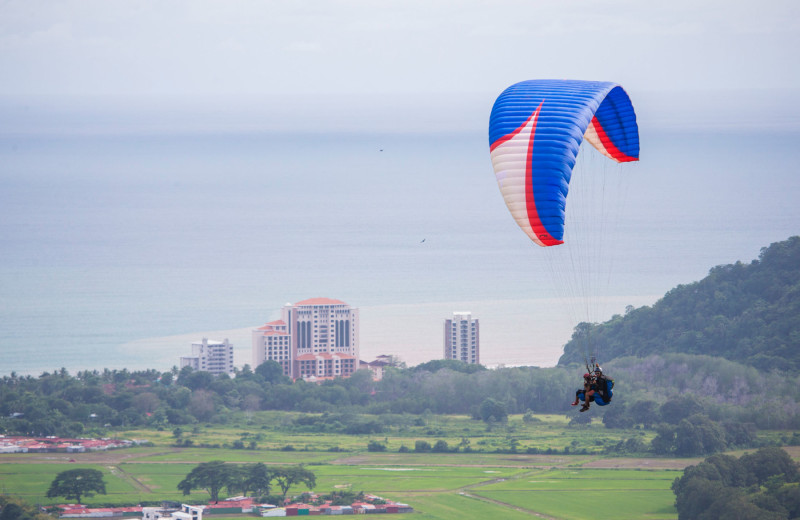 Parasailing at Croc's Resort & Casino.