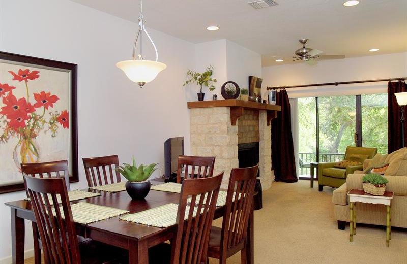 Rental interior at River City Resorts.