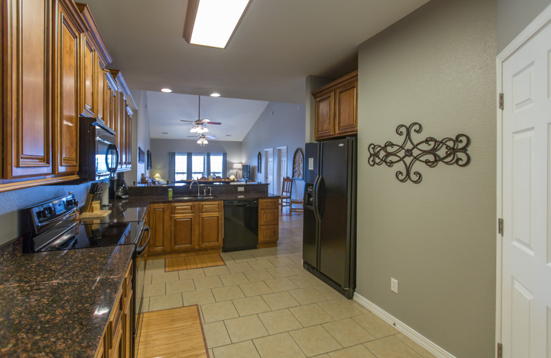 Guest kitchen at Rockwood Resort.