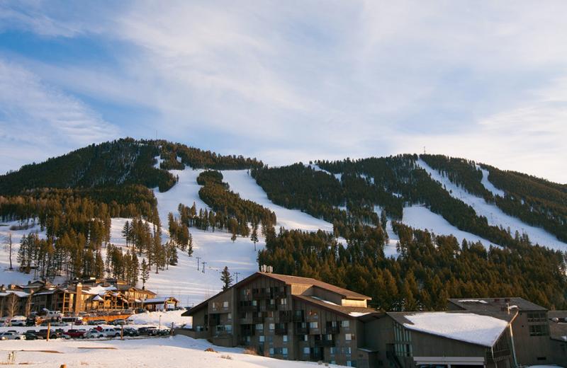 Ski mountain at Cabin and Company.