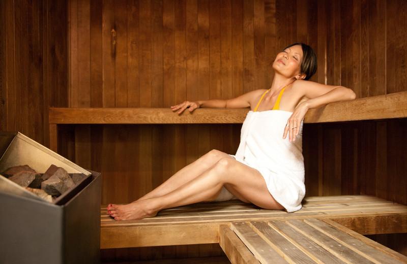 Sauna at The Breakers Resort.