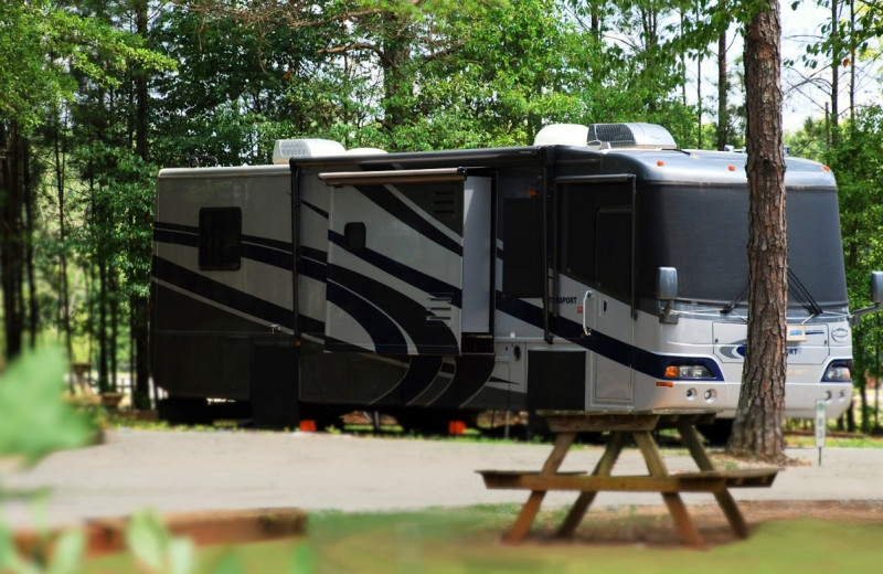 RV campsite at St. Eugene Golf Resort