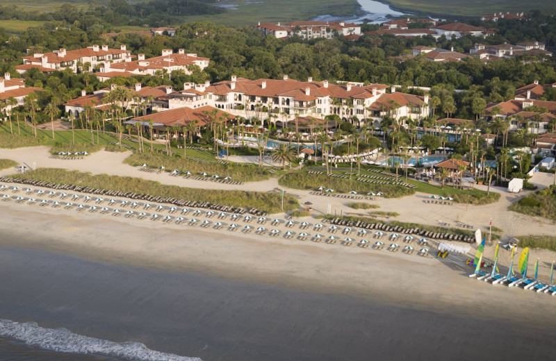 Aerial view of Sea Island The Cloister