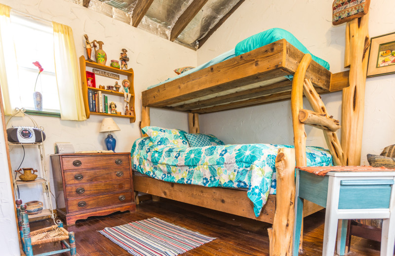 Cabin bunk beds at Creekside Camp & Cabins.