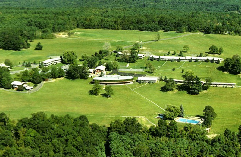 Aerial view of Sunny Hill Resort & Golf Course.