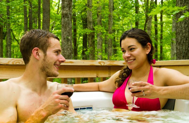 Romantic getaways at Country Road Cabins.