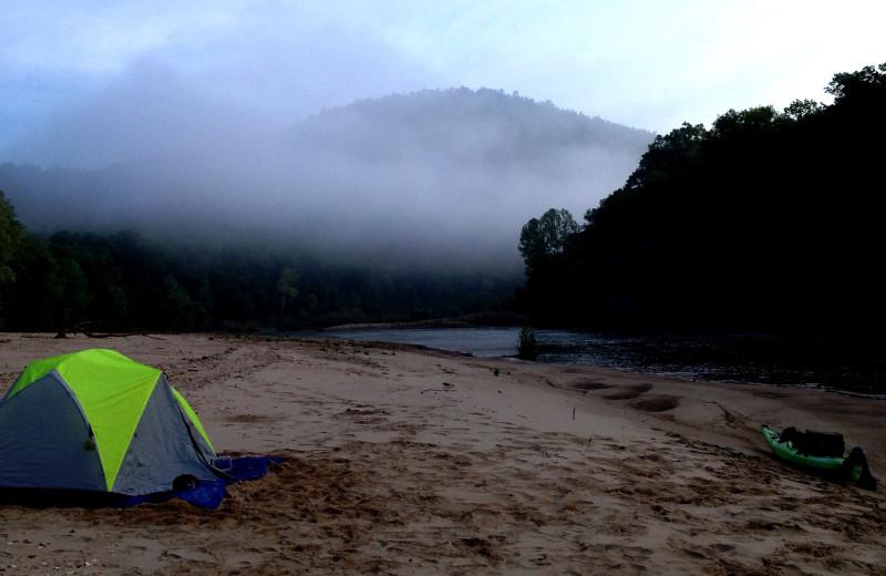 Camp at Copper John's Resort.