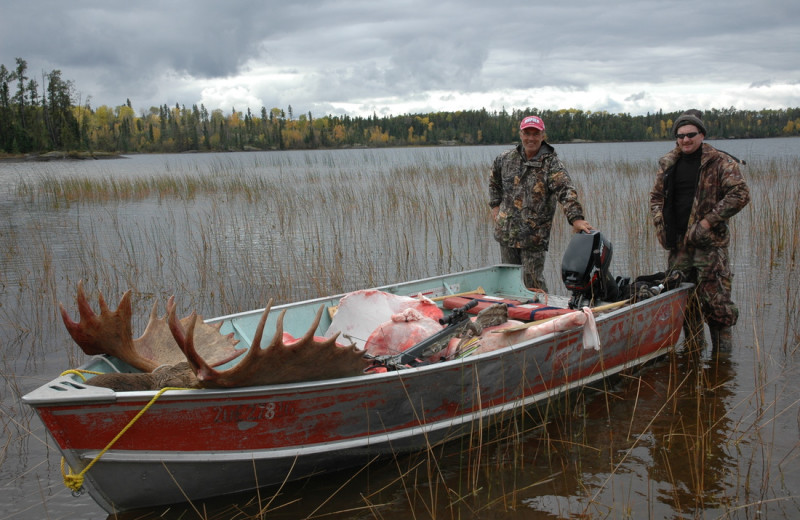 Moose hunting at Smith Camps.