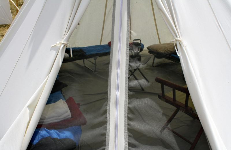 Interior of Tent at Yellowstone Under Canvas