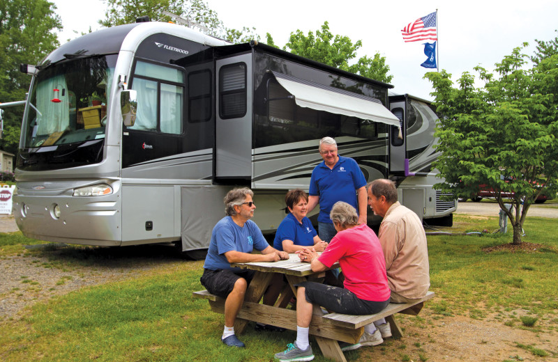 The campground at Lake Junaluska Conference and Retreat Center offers RV and tent sites.