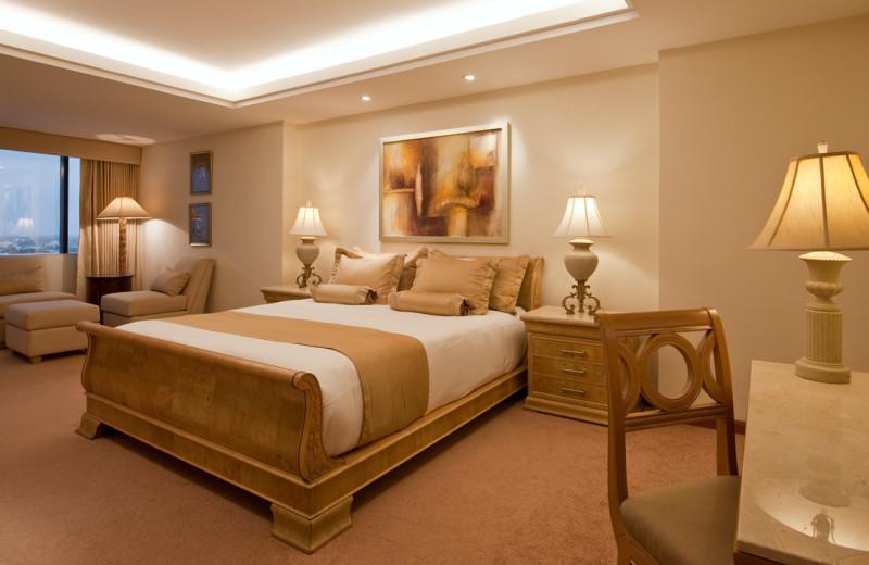 Guest room at Hyatt Regency Merida.