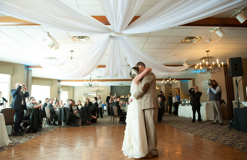 Wedding dance at Woodloch Resort.