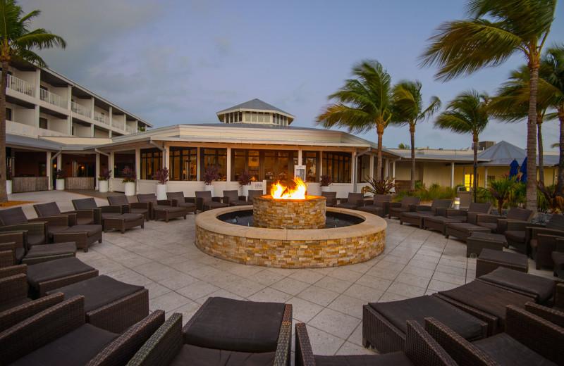 Fire pit at Hawks Cay Resort.