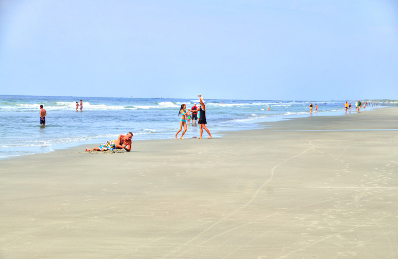 The beach at Williamson Realty Vacations.