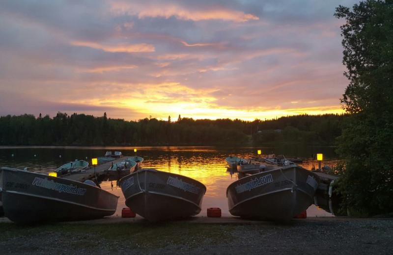 Boats at Rainbow Point Lodge.