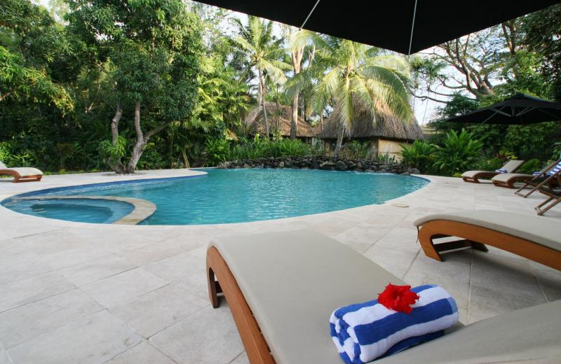 Outdoor pool at The Fiji Orchid.
