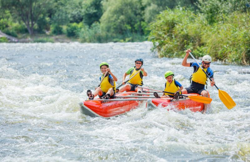 Rafting at The Glen Eden Resort.