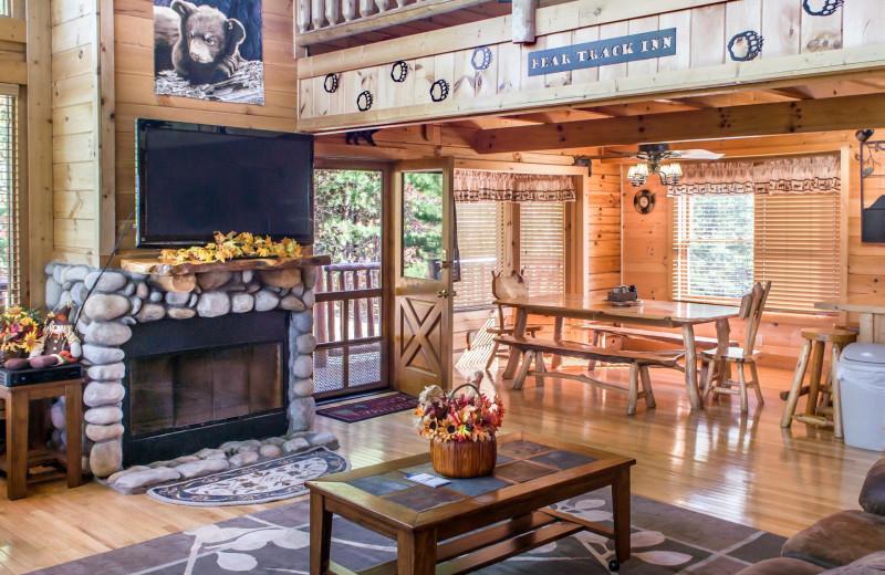 Rental living room at American Mountain Rentals.