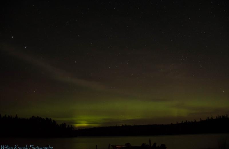 Northern lights at Loon Lake Lodge.