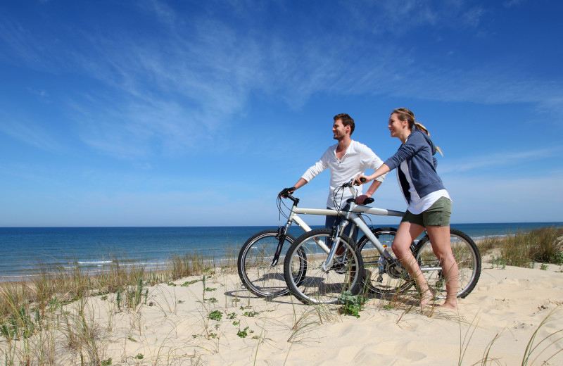 Biking at Shorepine Vacation Rentals.