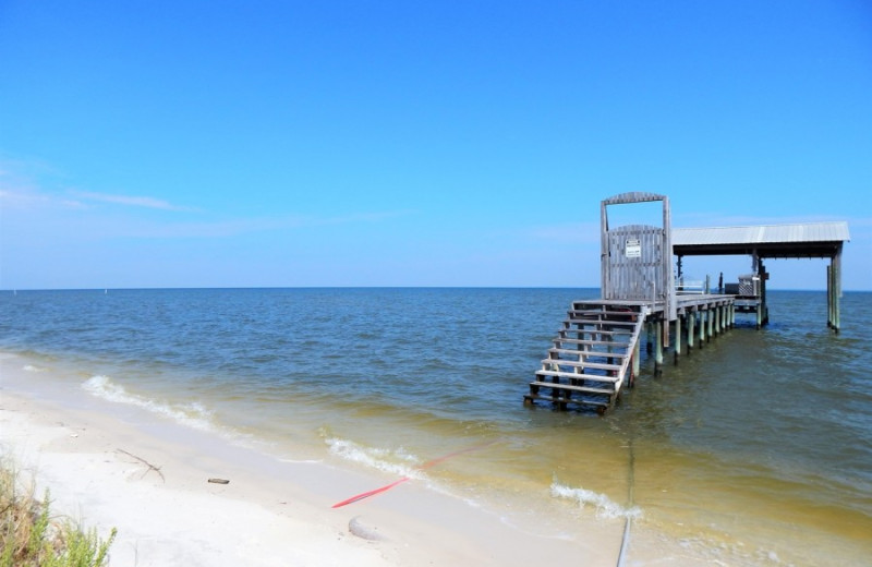 Dock at ACP Vacation Rentals.