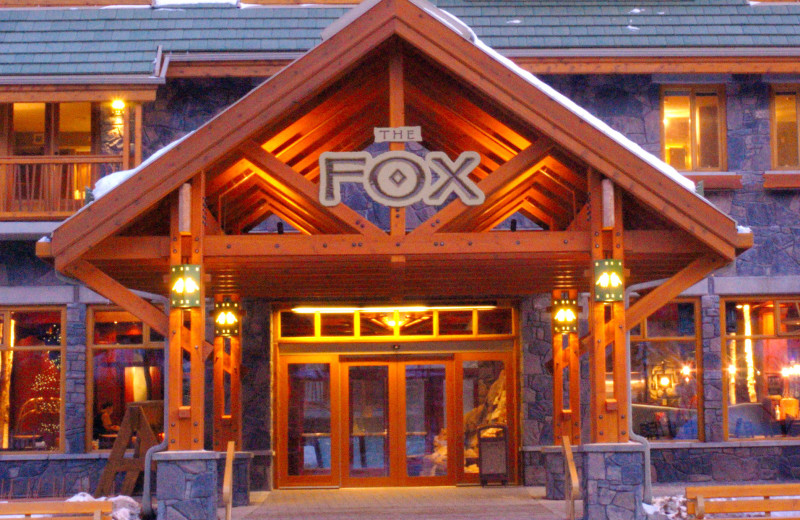 Front entrance at The Fox Hotel.