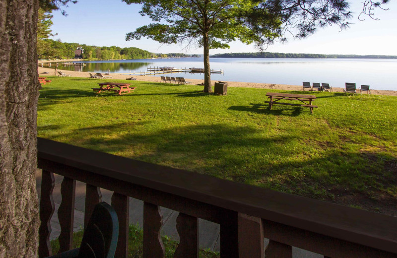 View from Cragun's Resort and Hotel on Gull Lake.