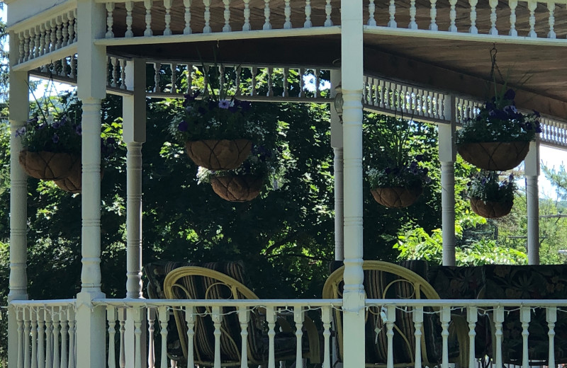 Porch at Antique Rose Inn.