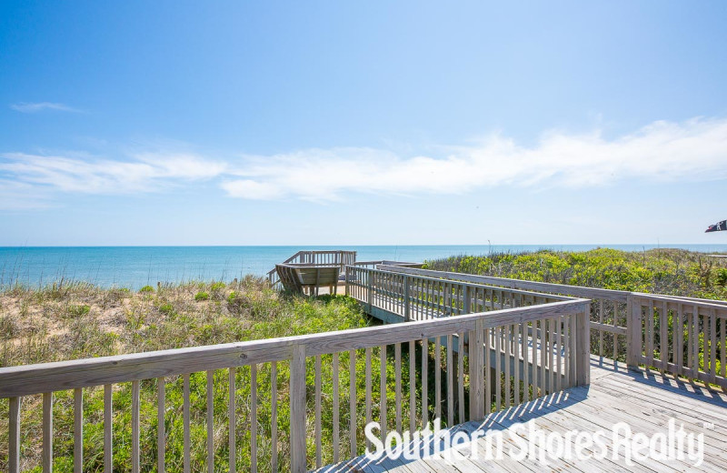 Rental beach at Southern Shores Realty.
