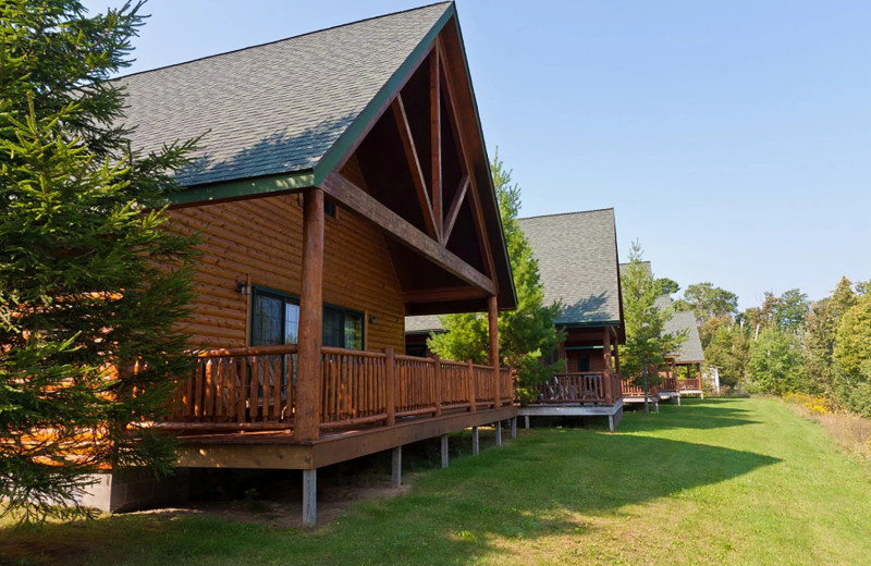 Cabins at Drummond Island Resort and Conference Center.