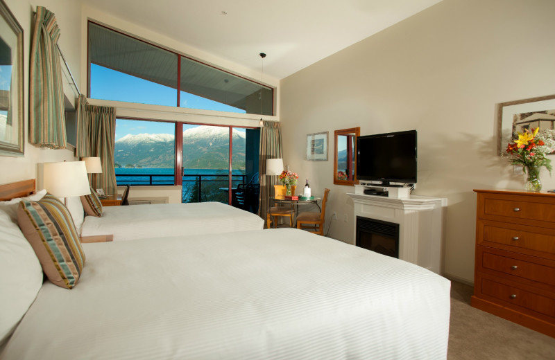 Guest room at Harrison Beach Hotel.