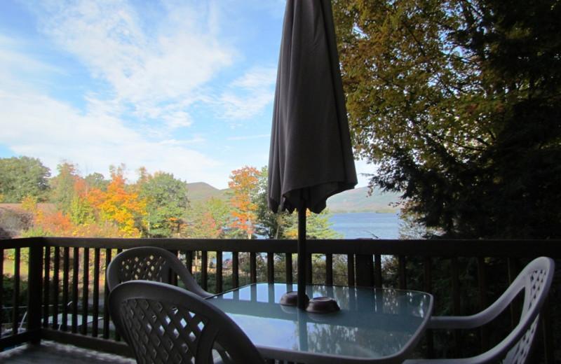 Cabin deck view at Contessa Resort.