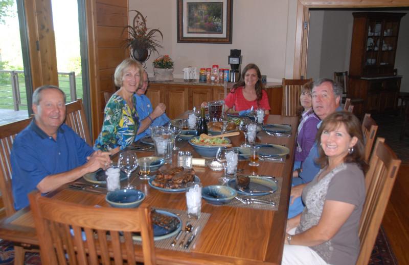 Dining at The White River Inn.