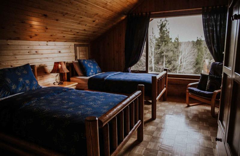 Guest bedroom at Big Creek Lodge.