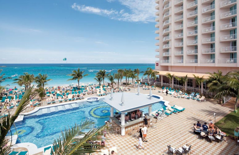 Outdoor pool at Hotel Riu Paradise Island.