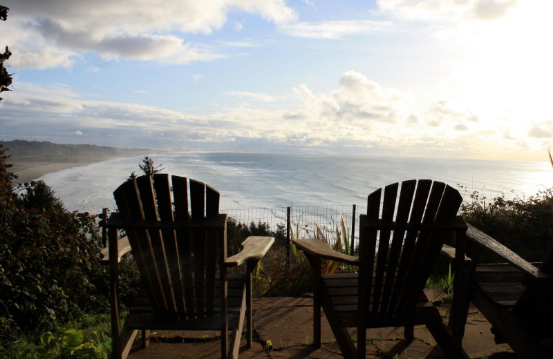 Relaxing at Redwood Coast Vacation Rentals.