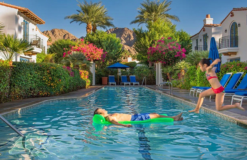 Swimming at La Quinta Resort and Club.