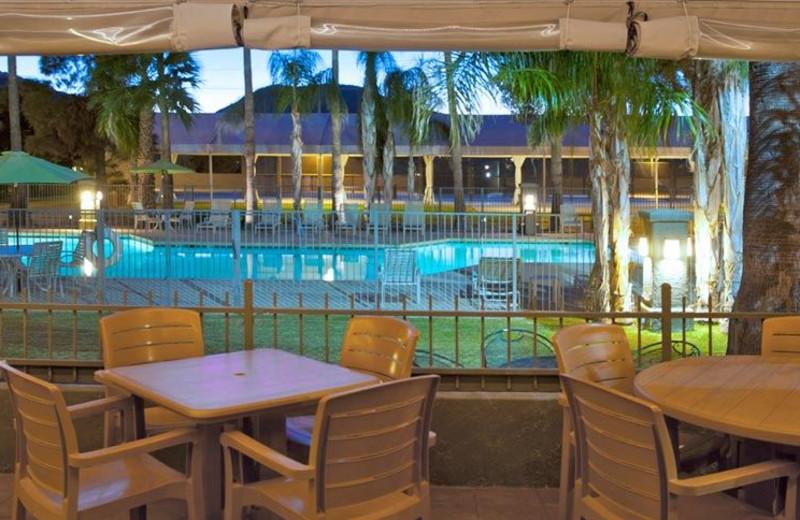 Outdoor pool at Riverpark Inn.
