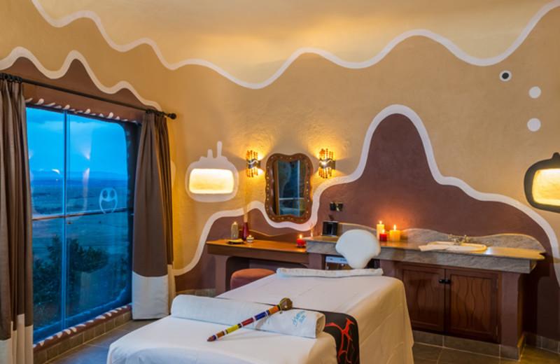 Guest room at Mara Serena Safari Lodge.